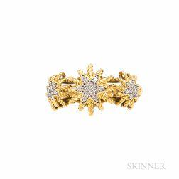 "18kt Gold and Dimond ""Starburst"" Ring, David Yurman"