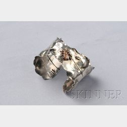 Art Nouveau Mixed-metal Cuff Bracelet, Geo. W. Shiebler & Co.