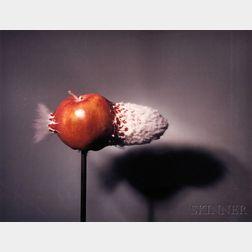 Harold Eugene Edgerton (American, 1903-1990)      Bullet through Apple