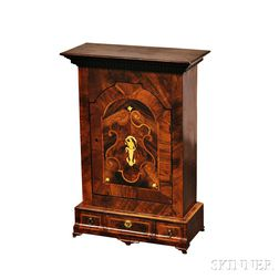 Continental Inlaid and Veneered Table Cabinet