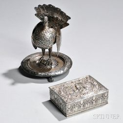 Two Pieces of .800 Silver Tableware