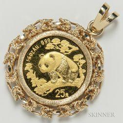 1997 Chinese 25 Yuan Gold Panda