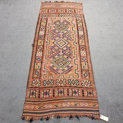 Afghan Ersari Flatweave Rug