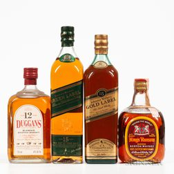 Mixed Scotch, 1 4/5 quart bottle (oc) 3 750ml bottles (oc)