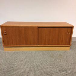 Teak Veneer Record Cabinet