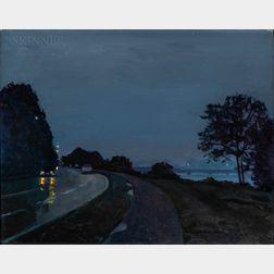 Nicholas Read (American, 20th/21st Century)      Wet Dawn Memorial Drive