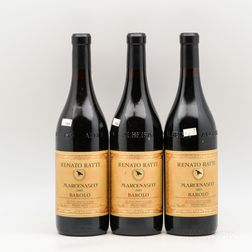 Renato Ratti Barolo Marcenasco 2005, 3 bottles