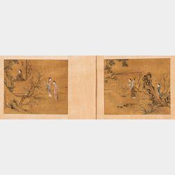 Two Album Leaf Paintings