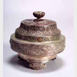 Parcel-gilt Silver Incense Burner