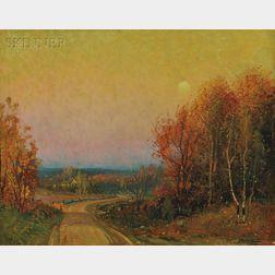 Frederick Mortimer Lamb (American, 1861-1936)      Autumn View at Dusk