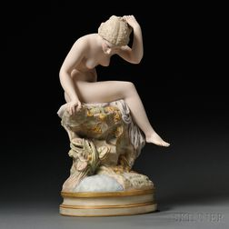 Robinson and Leadbeater Colored Parian Figure