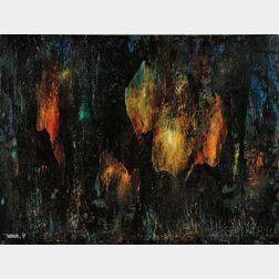 Leonardo M. Nierman (Mexican, b. 1932)      Untitled (Fire)