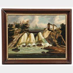 Thomas Chambers (New York/England, 1808-1869)      Theresa Falls, Indian River