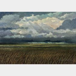 Eric Sloane (American, 1905-1985)      Squall Line