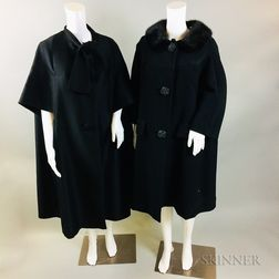 Two Black Full-length Coats