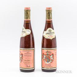 Schloss Johannisberg Rosa Goldlack Beerenauslese 1971, 2 bottles