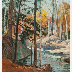 Frederick Mulhaupt (American, 1871-1938)      The Stream