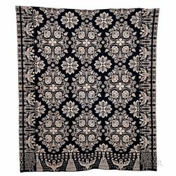 """Jacquard Coverlet """"American Independence Declared July 1776,"""""""