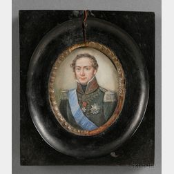 Continental Portrait Miniature of an Officer