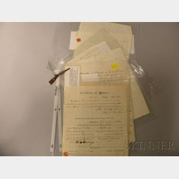 Four Hand-written Vermont Civil War Era Correspondence and a Document