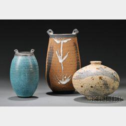Three Vivika & Otto Heino Pottery Vessels