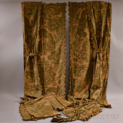 Two Pairs of Fortuny Drapes with Valences.     Estimate $300-500