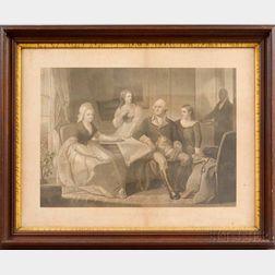 Framed Irwin & Sartain Washington And His Family   Print