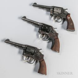 Three Smith & Wesson Double-action Revolvers