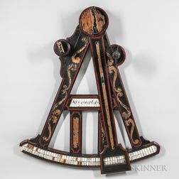 Large Paint-decorated Octant Trade Sign