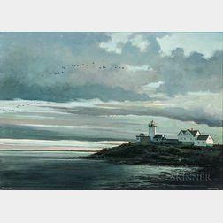Eric Sloane (American, 1905-1985)      Low Tide