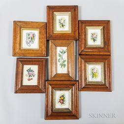 Seven 19th Century Maple Frames