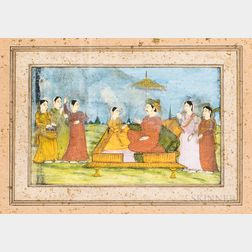 Miniature Painting Depicting a Couple