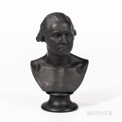 Wedgwood Black Basalt Bust of Washington