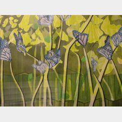 Framed Work on Paper of  Butterflies