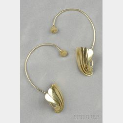 18kt Gold Earrings, John Paul Miller