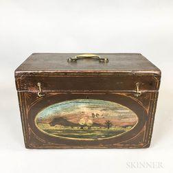 Paint-decorated Pine Box