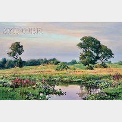 Robert E. Moore (American, 1956-2003)      Evening Meadow