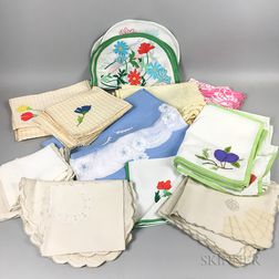 Group of Table Linens.     Estimate $300-500