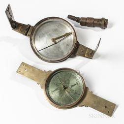 Two Brass Surveyor's Compasses for Restoration