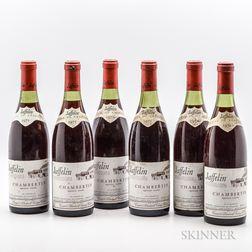 Jaffelin (Caves du Chapitre) Chambertin 1971, 6 bottles