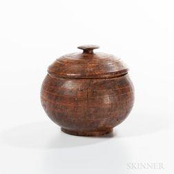 Turned Ash Burl Lidded Bowl