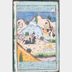 Three Manuscript Paintings