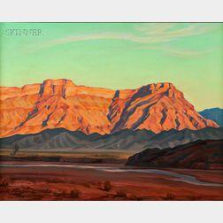 Edith Anne Hamlin (American, 1902-1992)      Shore of the Fremont /  A View of Tucson, Arizona