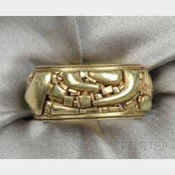 "18kt Gold ""Fragment"" Band, John Paul Miller"
