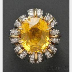 Yellow Sapphire and Diamond Ring, Jean Schlumberger, Tiffany & Co.