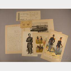 Eight Assorted Civil War-related Ephemera Items
