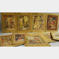 American School, 19th/20th Century Lot of Ten Historical, Literary, and Mythological Illustrations, Including Signed Works B: Henry ...