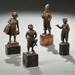 Four Bronze Figures of Children