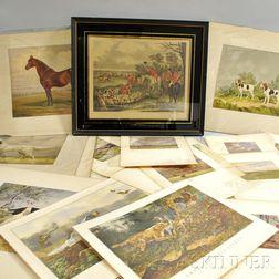 Twenty-six Hunting Prints