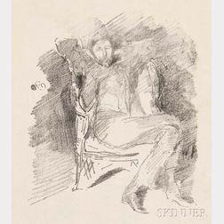 James Abbott McNeill Whistler (American, 1834-1903)      Firelight: Joseph Pennell, No. 1